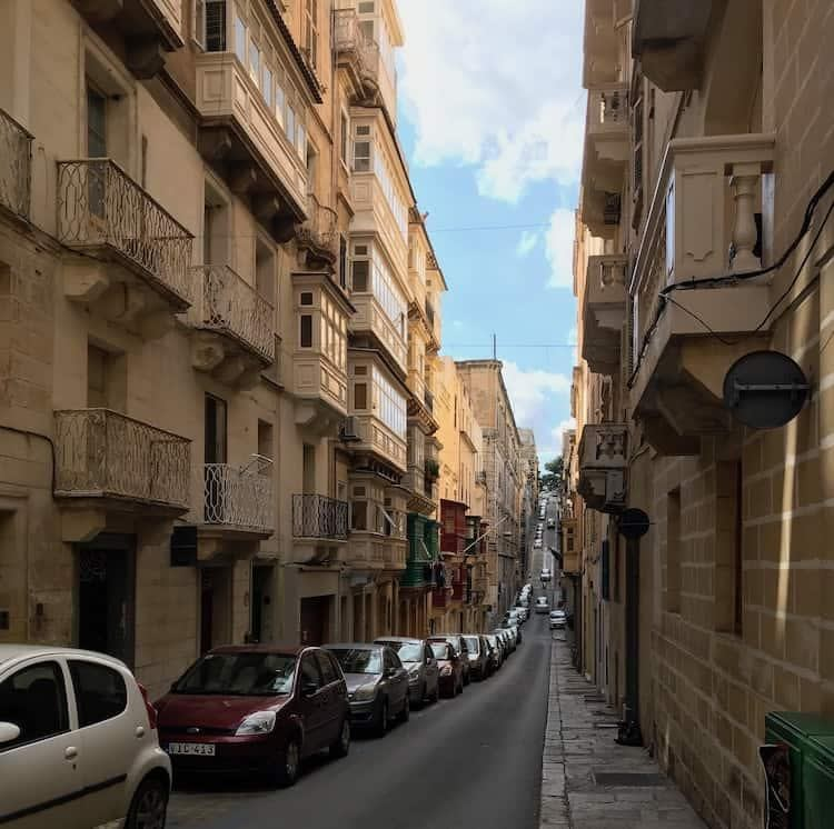 The amazing side streets of Valletta