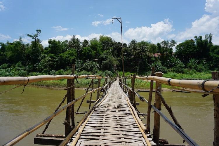 Bamboo Bridge - Luang Prabang