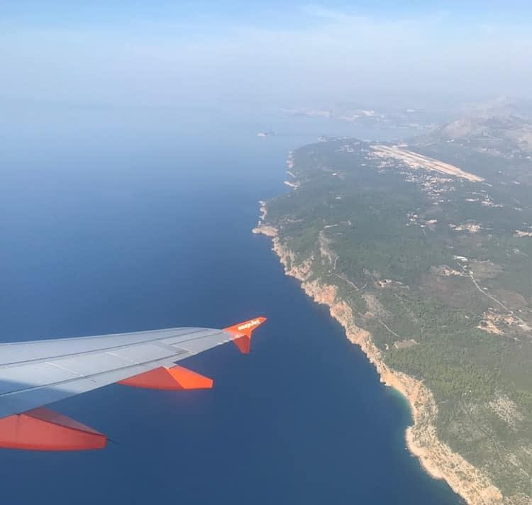 View over Croatia from plane